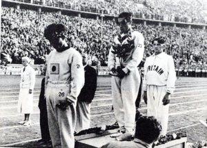 1936年ベルリンオリンピック マラソン表彰式
